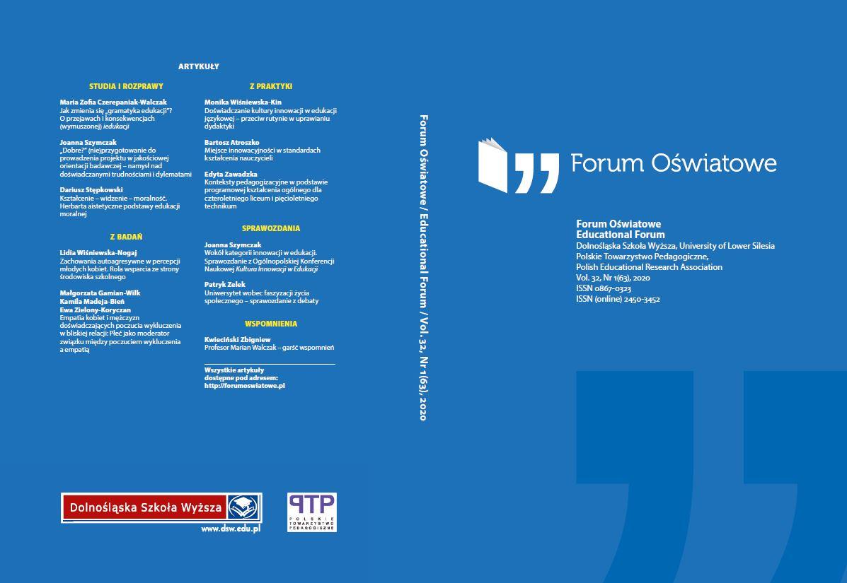 Okładka Forum Oświatowe